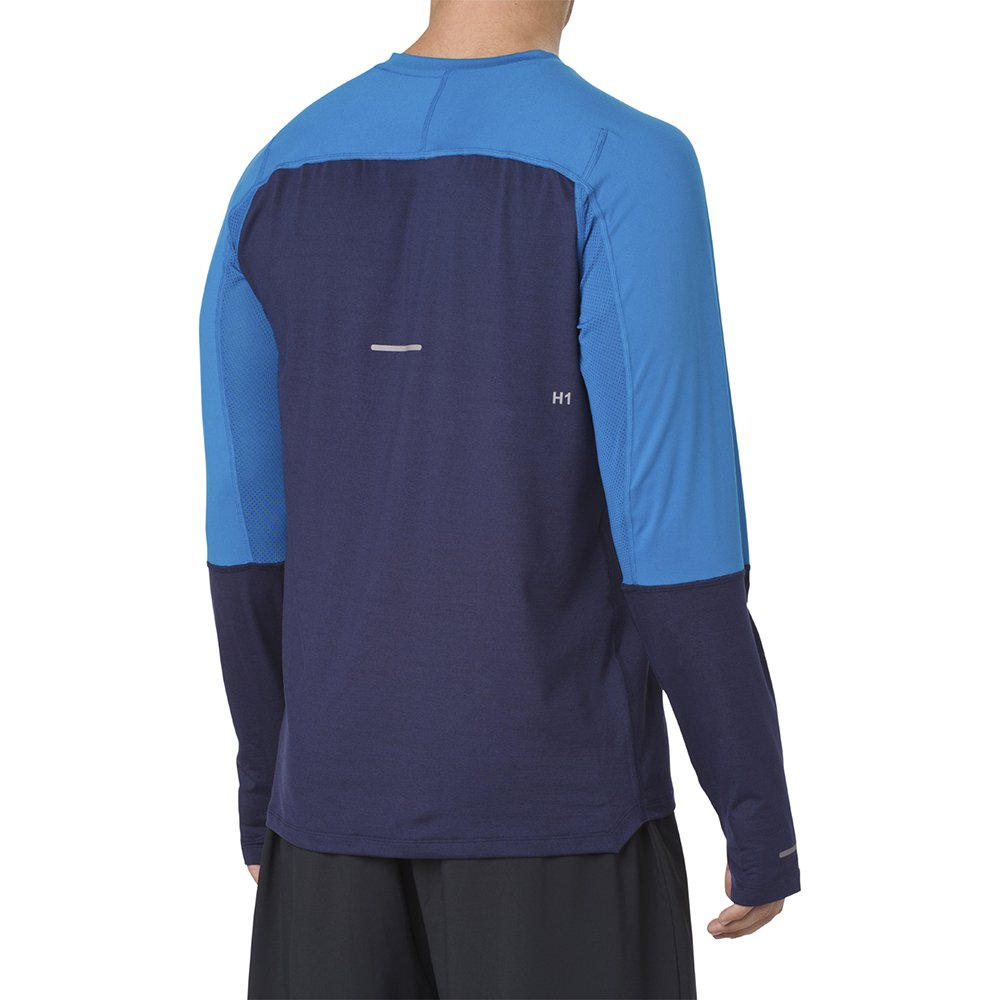 asics thermopolis plus long sleeve peacoat blue