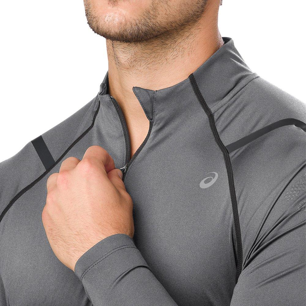 bluza asics icon ls 1/2 zip top m szara