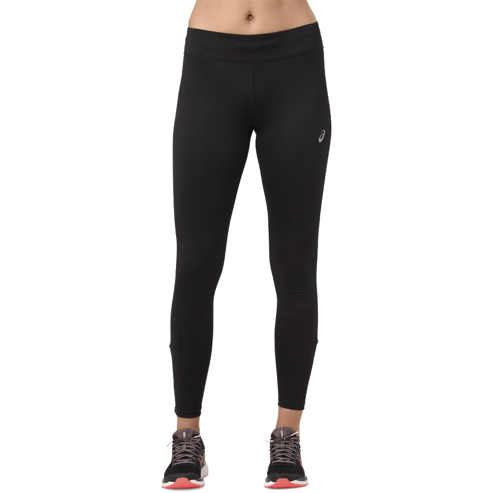 asics silver tight performance black