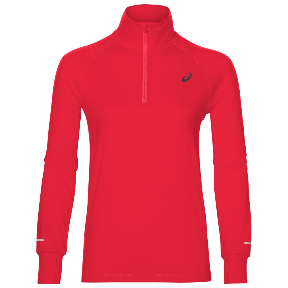 asics thermopolis longsleeve 1/2 zip top w czerwona
