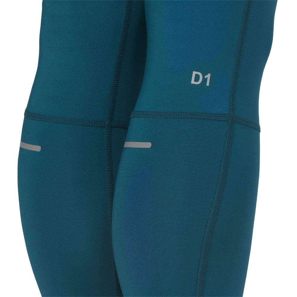 asics 7/8 tights w turkusowe