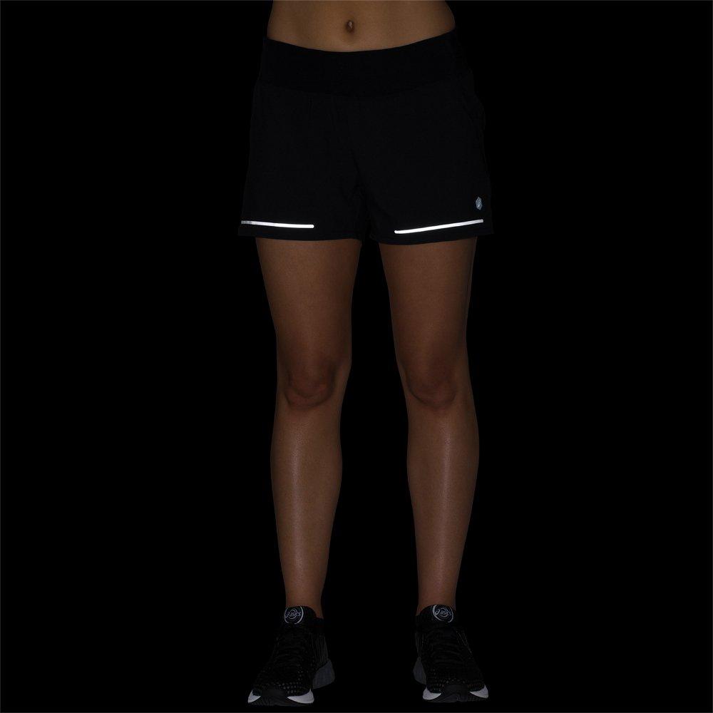 asics lite show 3.5 inch short w czarne