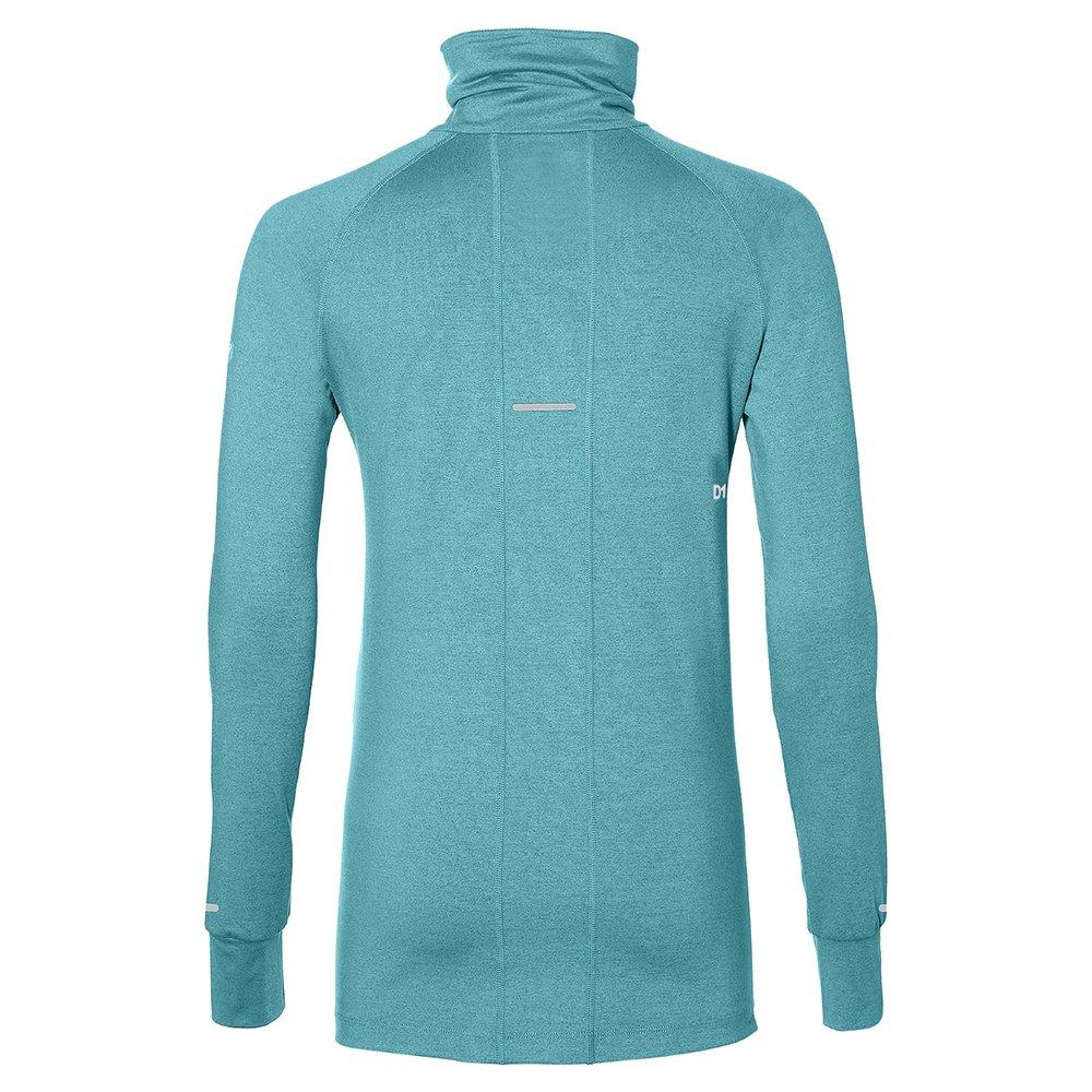 asics thermopolis long sleeve 1/2 zip lake blue