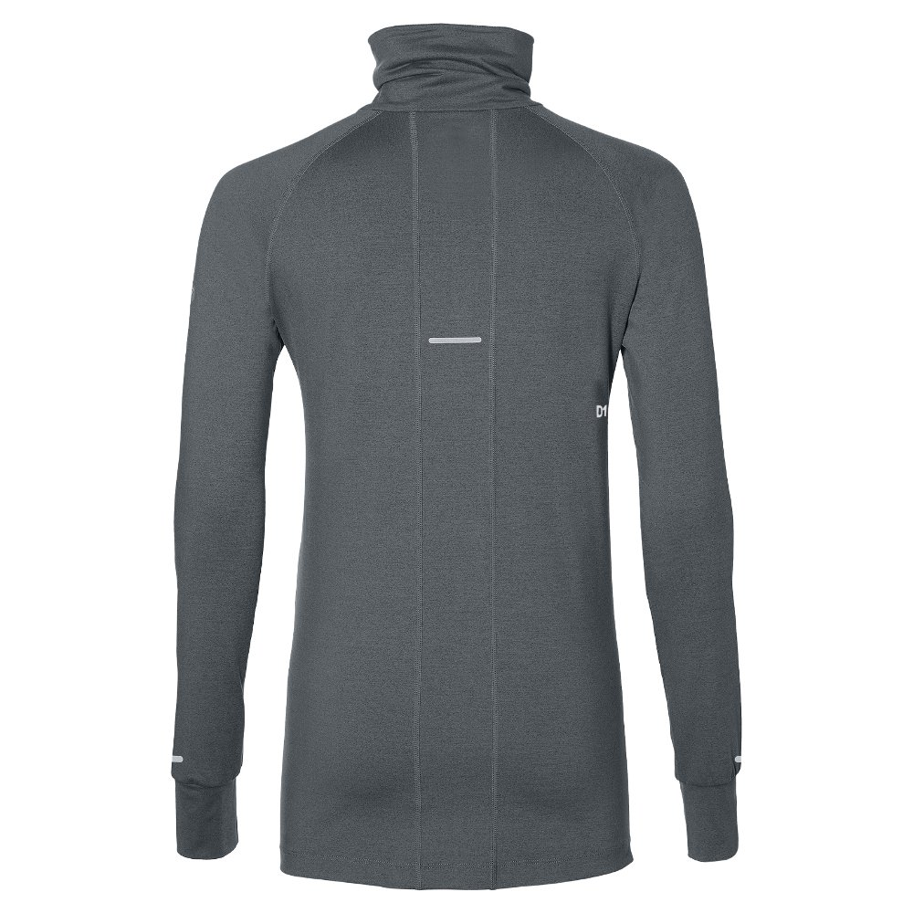 asics thermopolis long sleeve 1/2 zip w szara