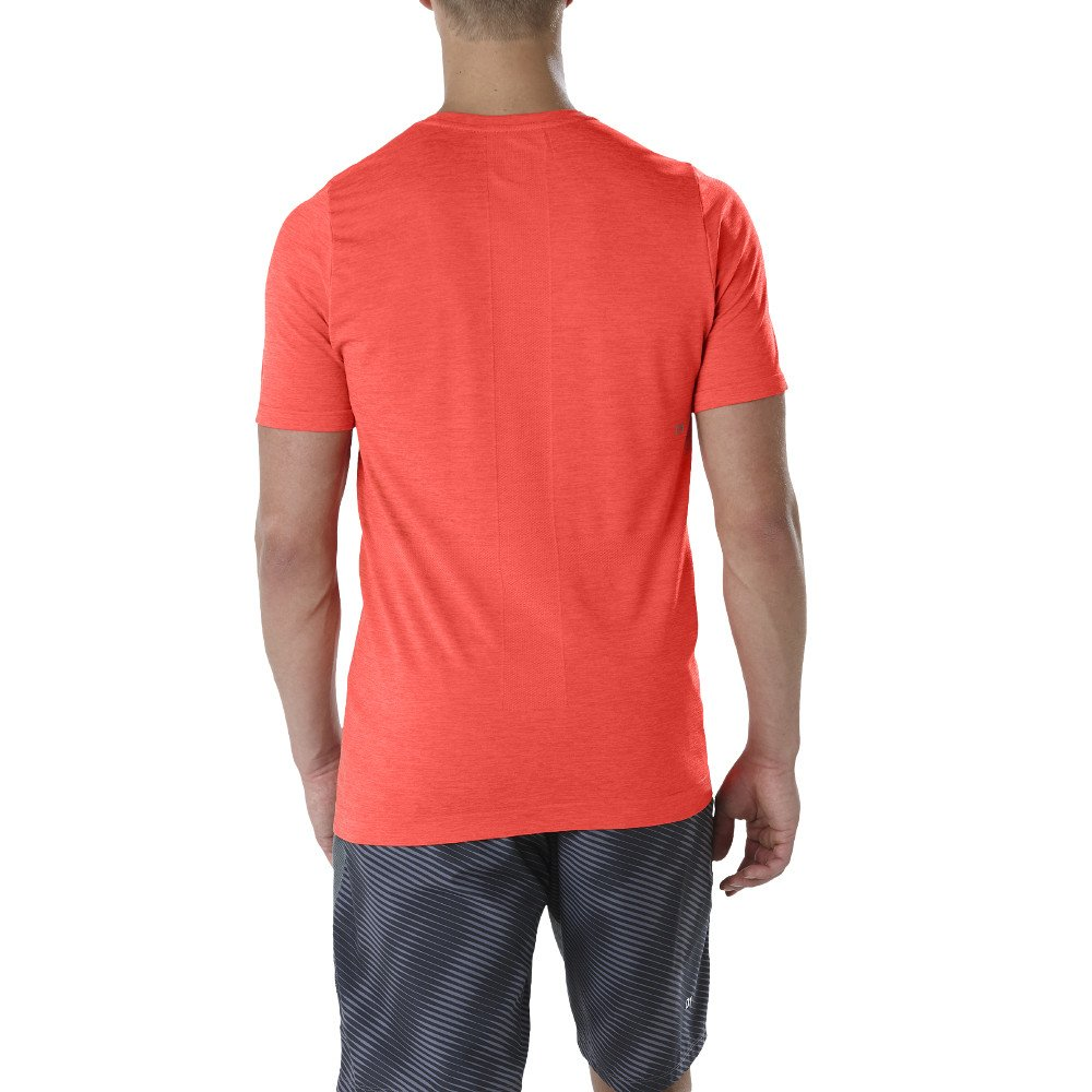 asics seamless short sleeve top m czerwona
