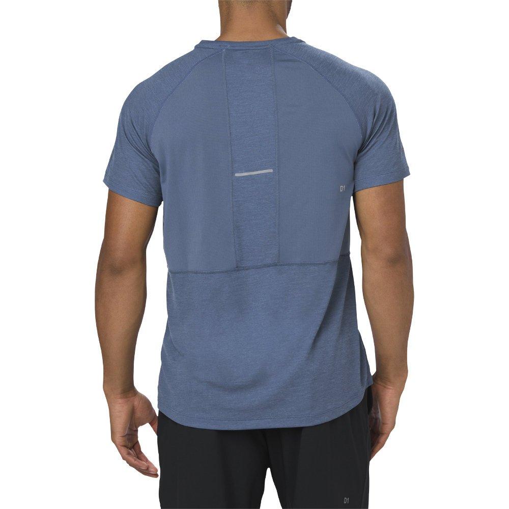 asics short sleeve top m ciemno-niebieska