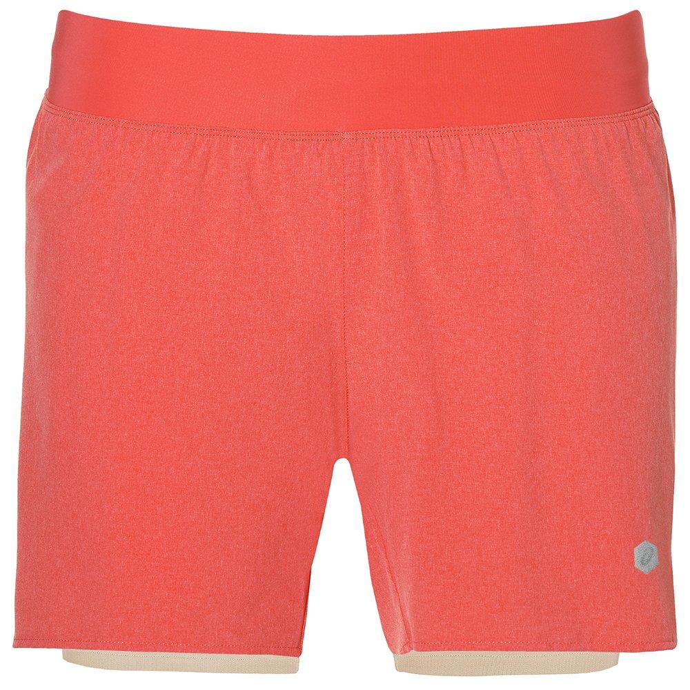asics 2-n-1 5.5in short w pomarańczowe