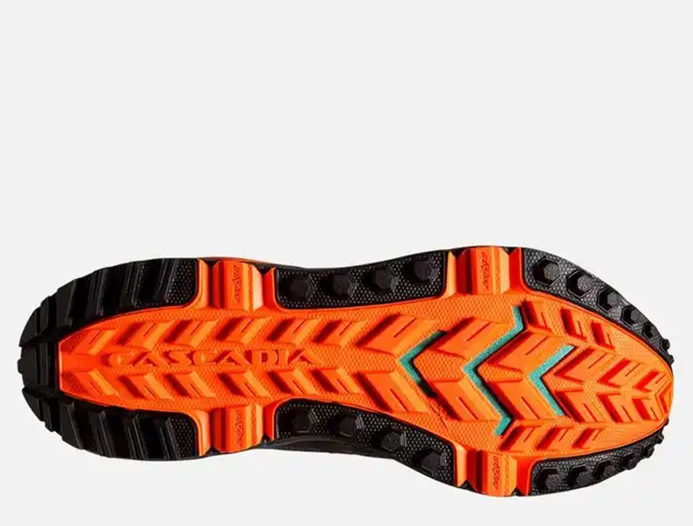buty brooks cascadia 13 grey/black/orange