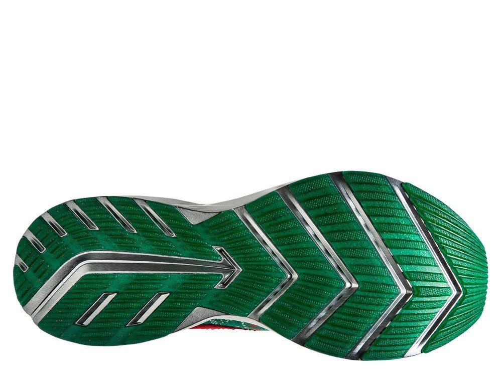 """brooks levitate 2 """"ugly sweater"""" w czerwono-biało-zielone"""