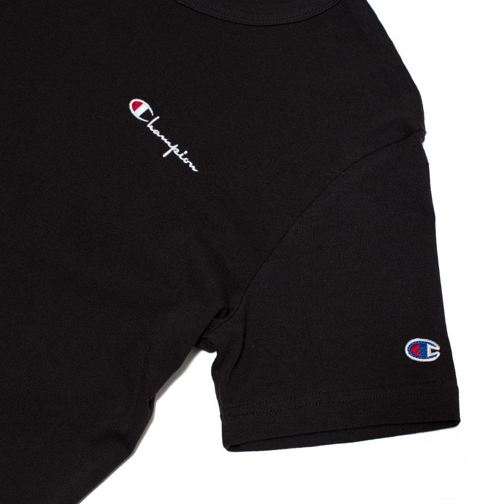 champion small script logo t-shirt (211985-kk001)