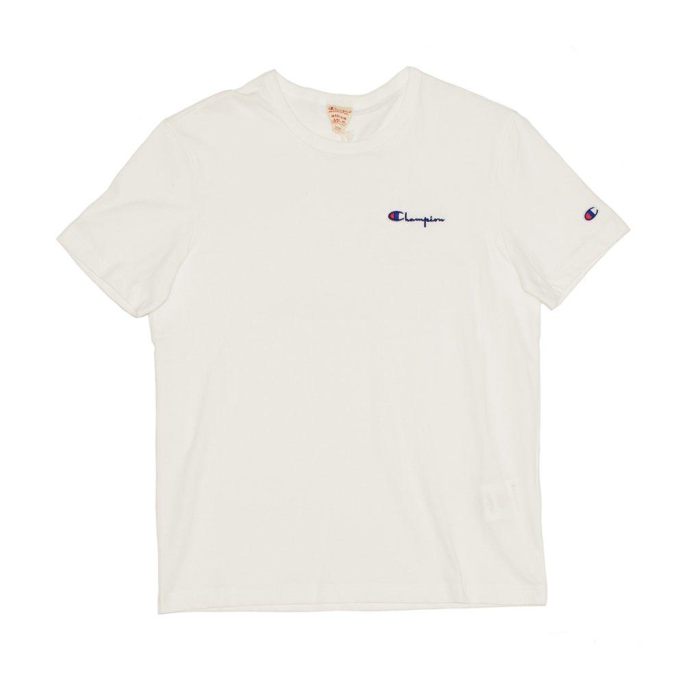champion small script logo t-shirt (211985-ww001)