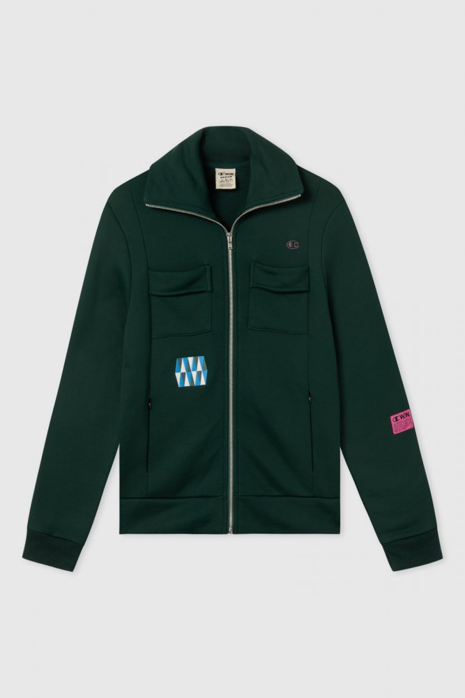 champion by wood wood tony full zip sweatshirt (212660-gs542)