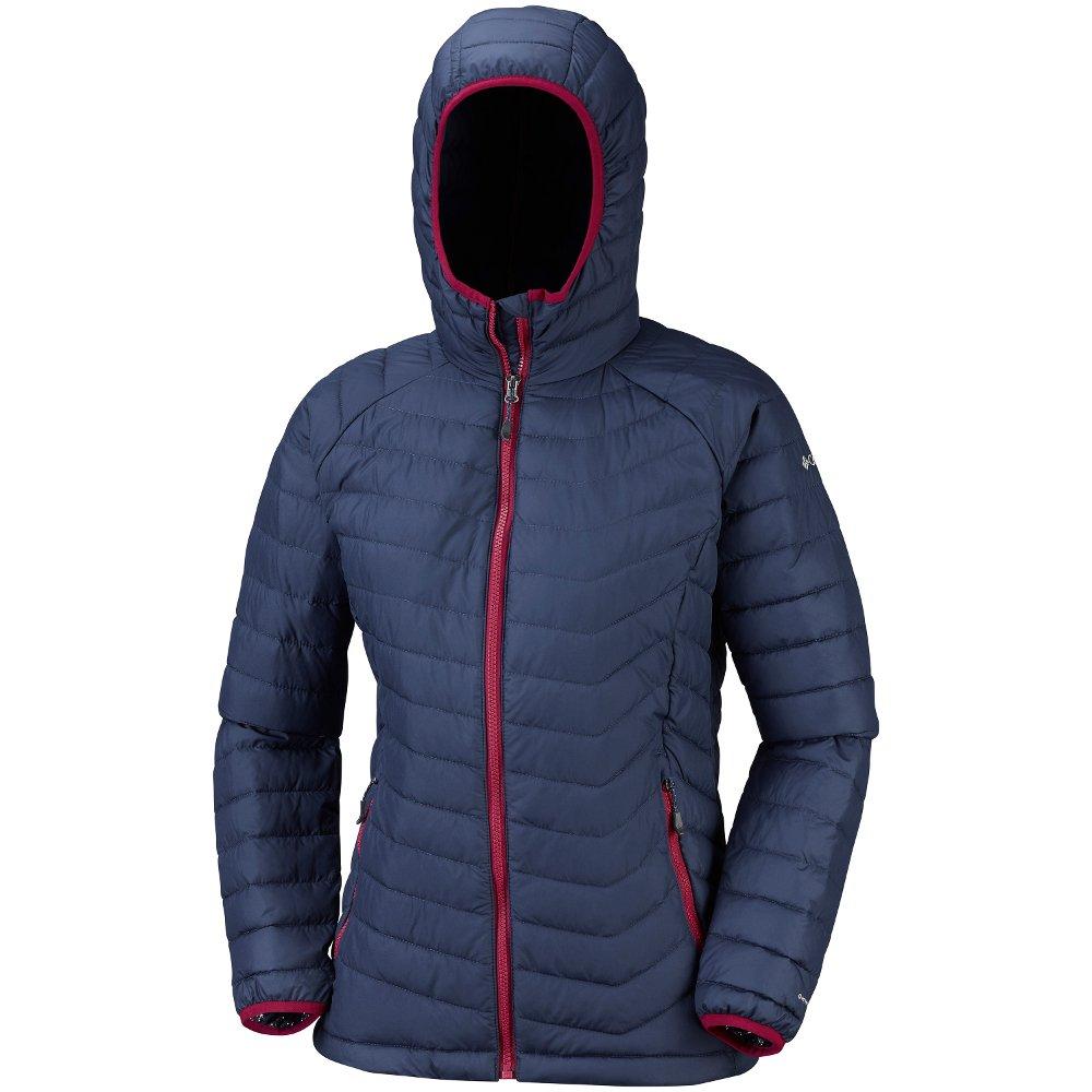 columbia powder lite hooded jacket w niebiesko-granatowa