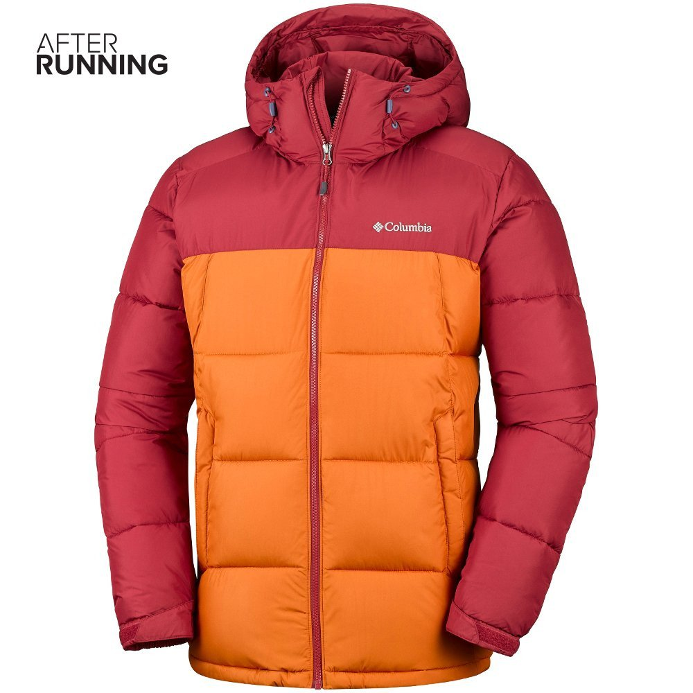 columbia pike lake hooded jacket m czerwono-pomarańczowa