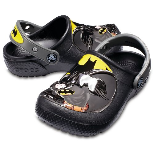crocs kids fun lab batman clogs czarne