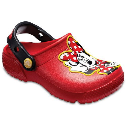 crocs kids fun lab minnie mouse clog czerwone