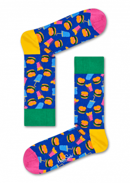 happy socks hamburger sock (ham01-6000)