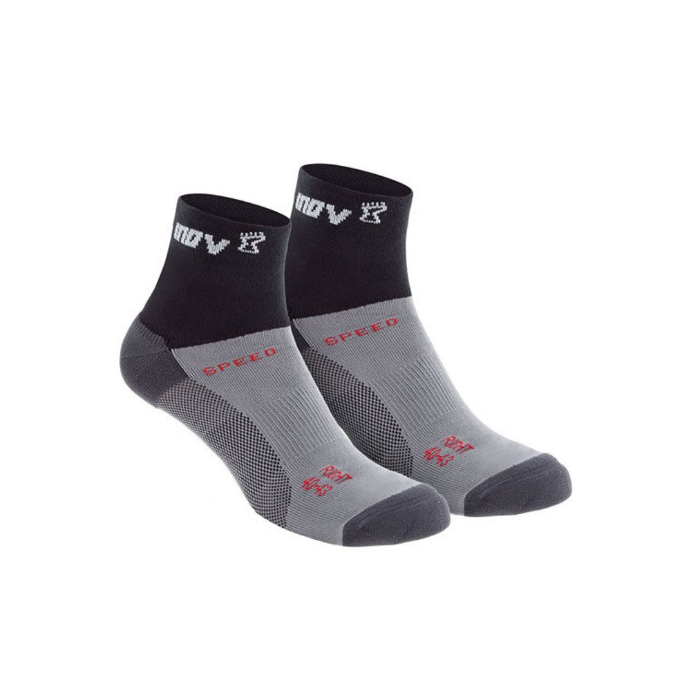 skarpety inov-8 speed sock mid dwupak czarno-szare