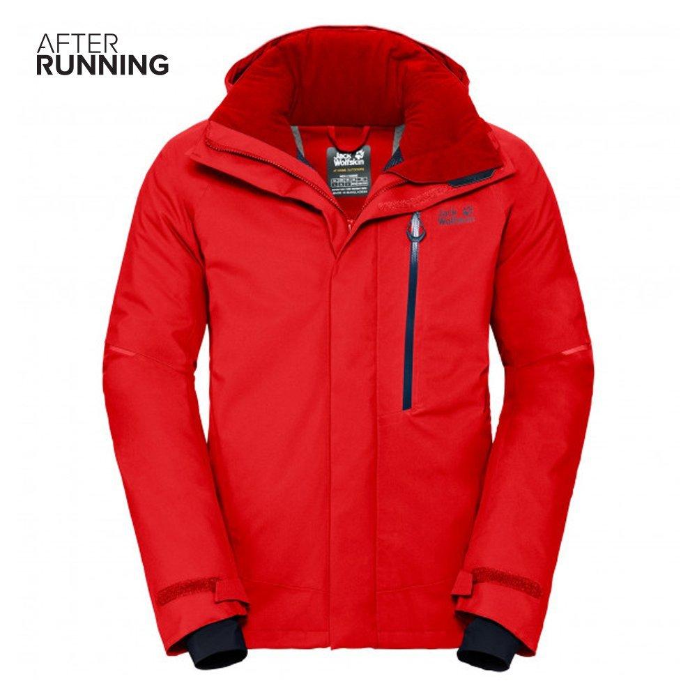 jack wolfskin exolight icy jacket m czerwona