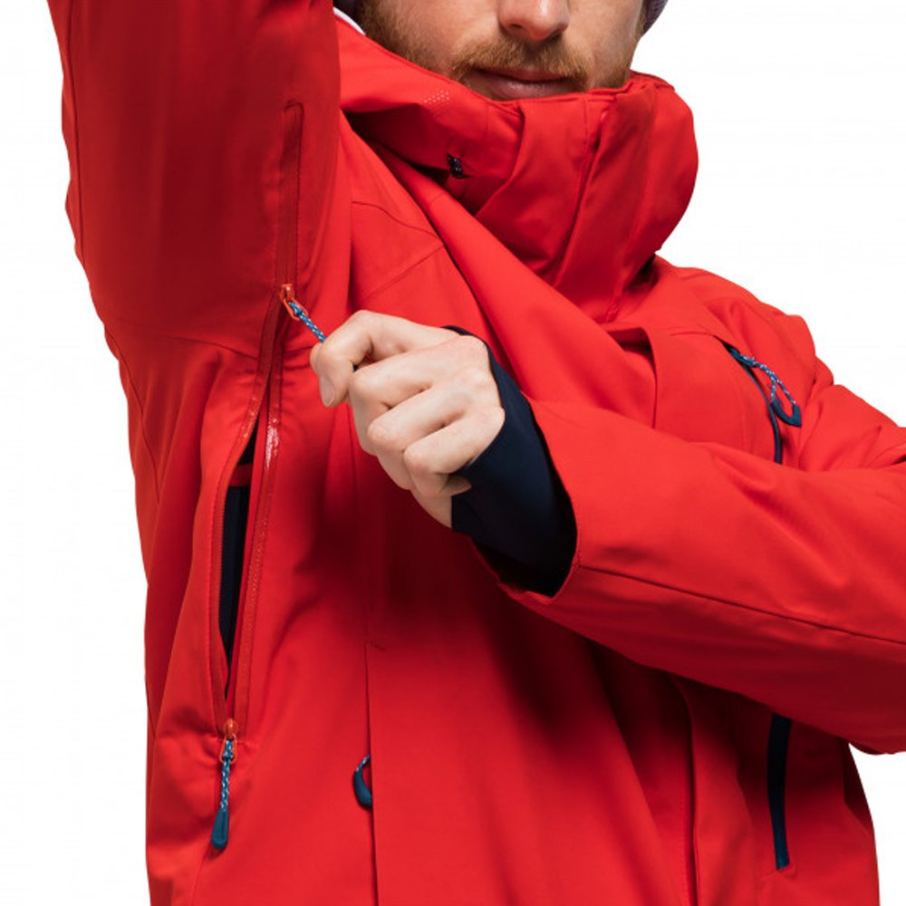 kurtka jack wolfskin exolight icy jacket men fiery red