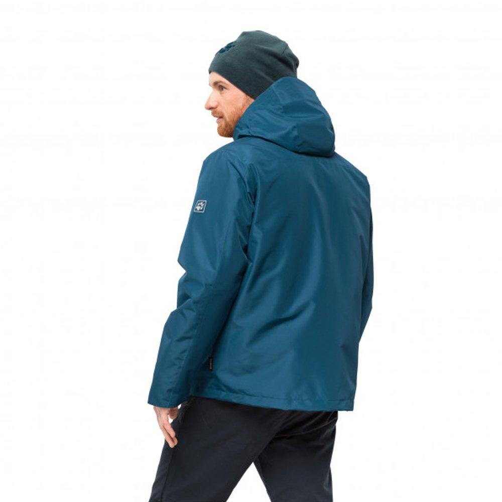 szczegółowy wygląd wyprzedaż najlepiej tanio Jack Wolfskin North Fjord Jacket 3-in-1 Hardshell M Niebieska