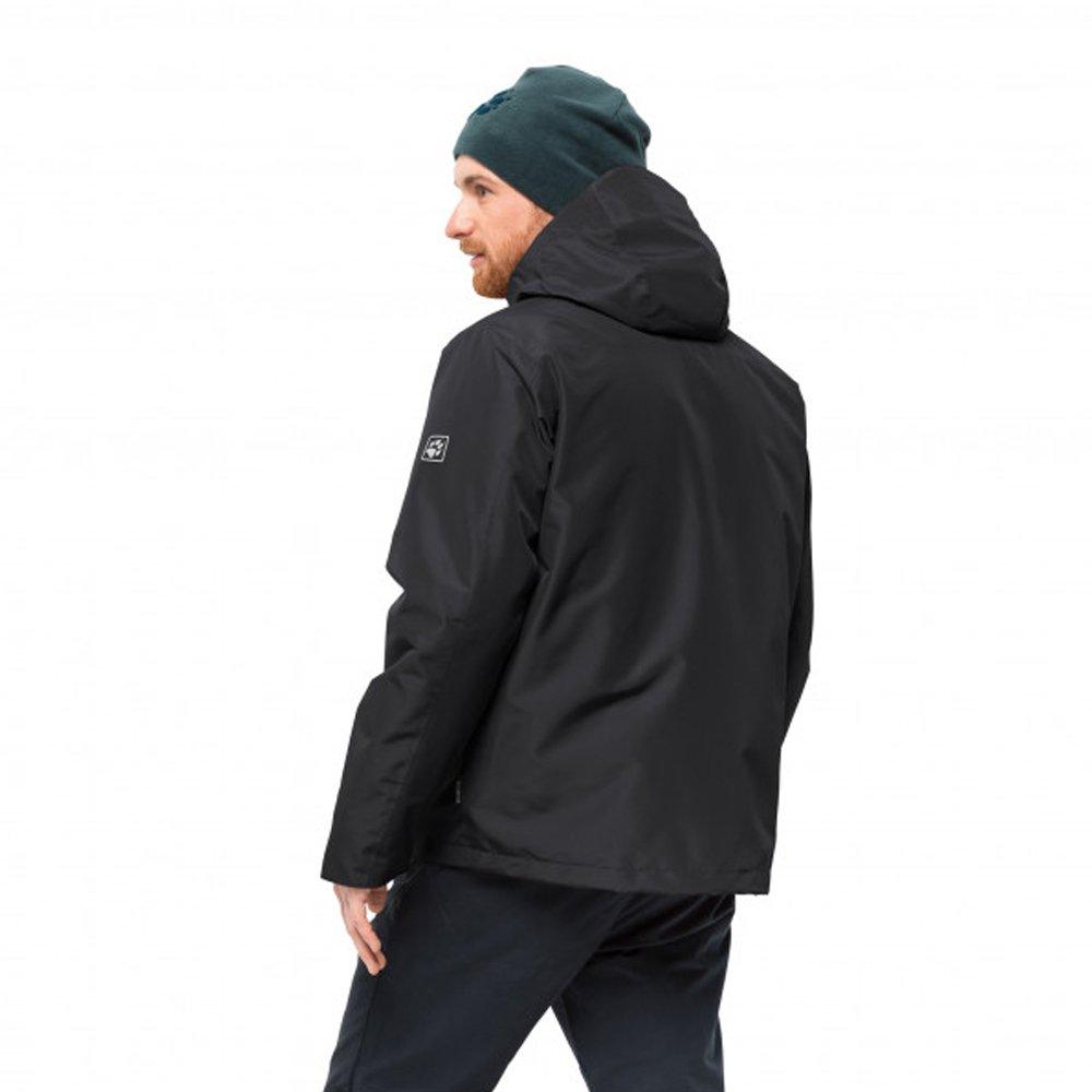 jack wolfskin north fjord jacket 3-in-1 hardshell m czarna