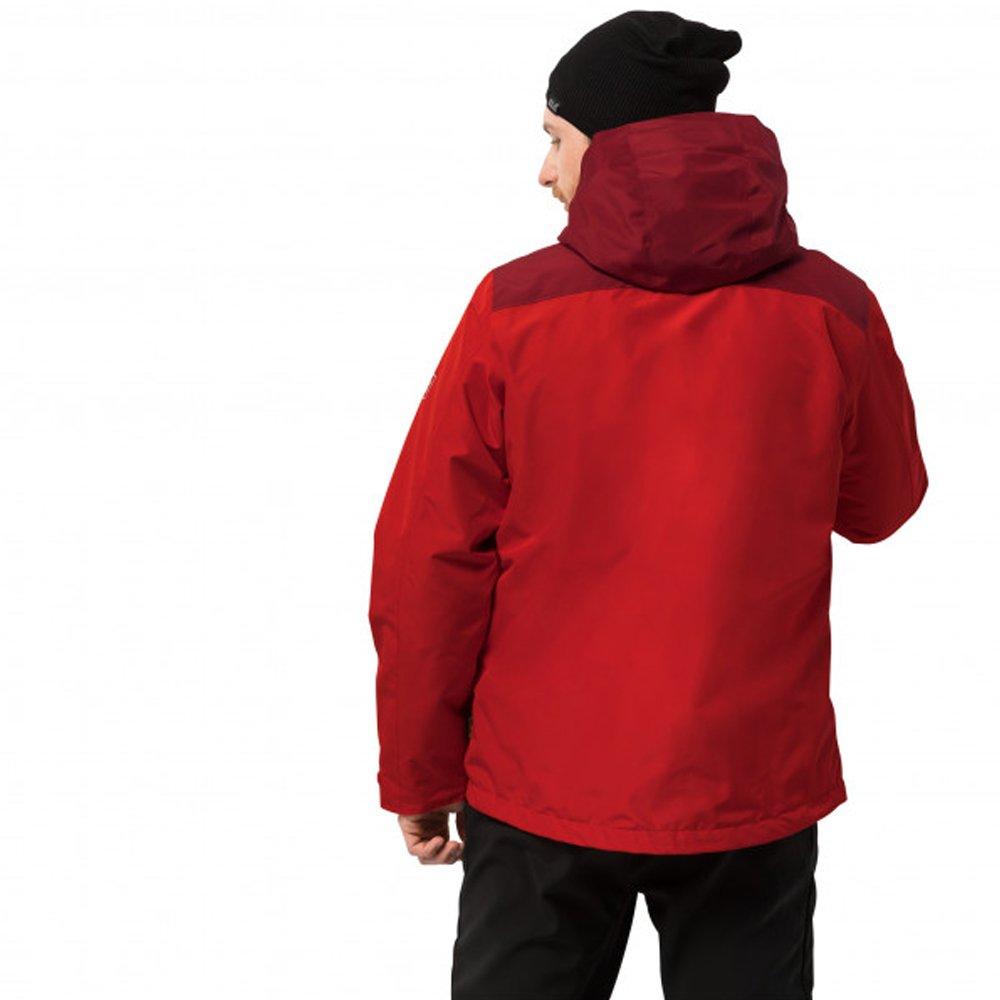 jack wolfskin arland 3 in 1 hardshell m czerwona