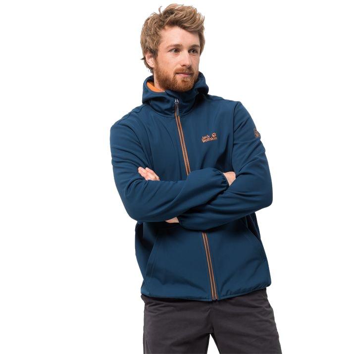 jack wolfskin essential peak jacket m morski-niebieski