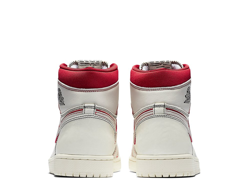 "air jordan 1 retro high og ""sail/university red"" (555088-160)"