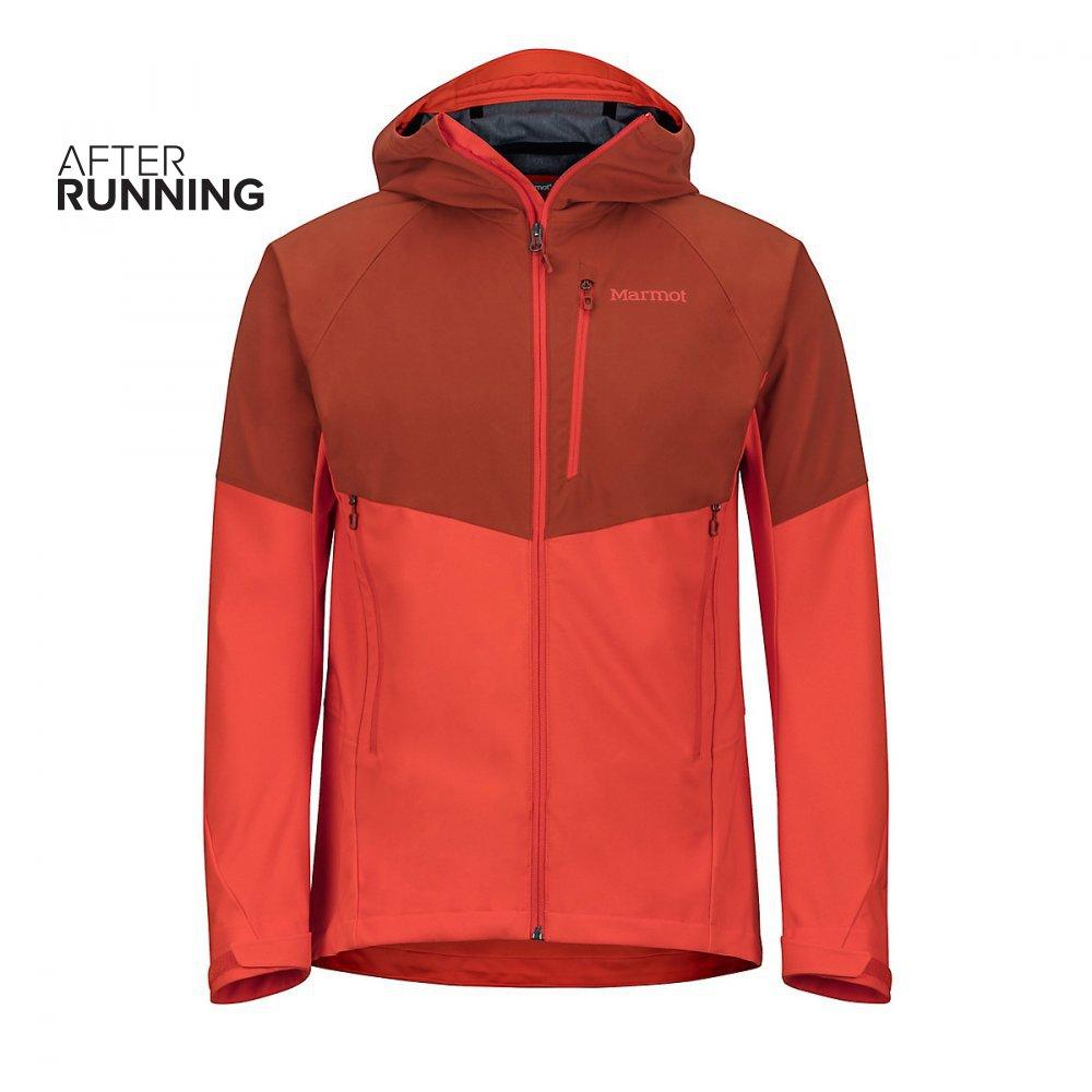 kurtka marmot rom jacket windstopper®  pomarańczowa