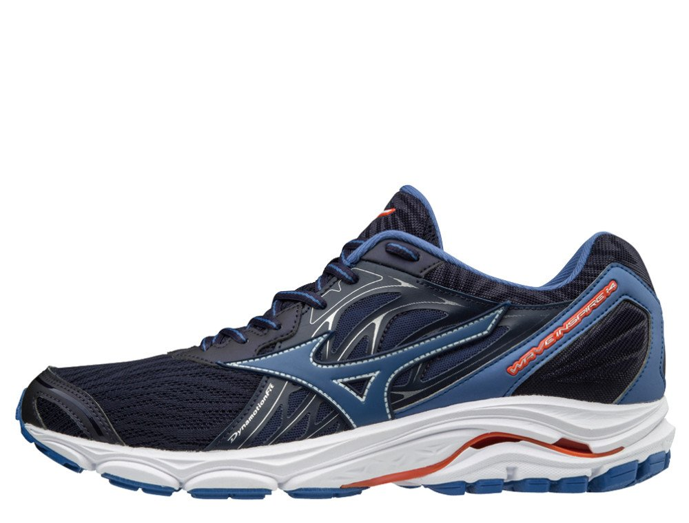 buty mizuno wave inspire 14 evening blue / delft / cherry tomato
