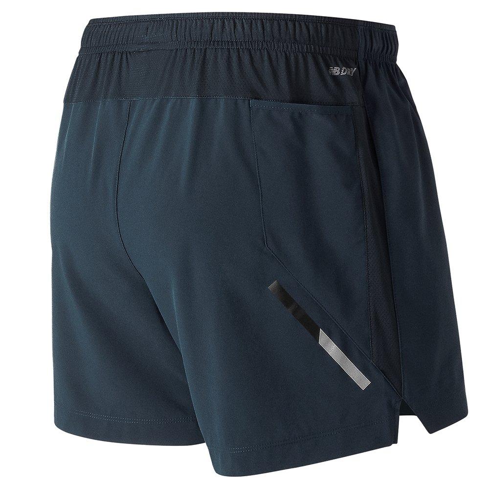 new balance impact 5 inch shorts m szaro-granatowe