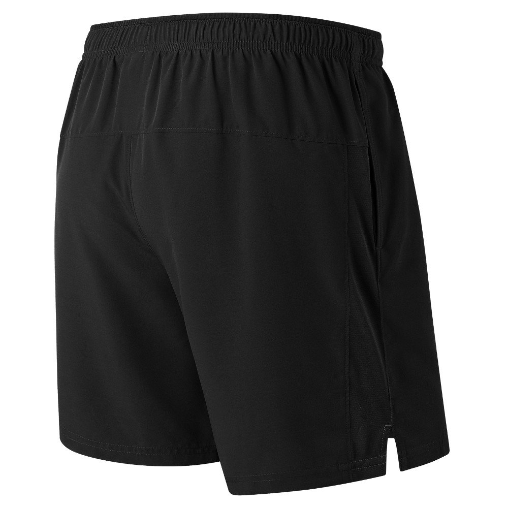 new balance core 7in woven shorts bkms81918bk m czarne