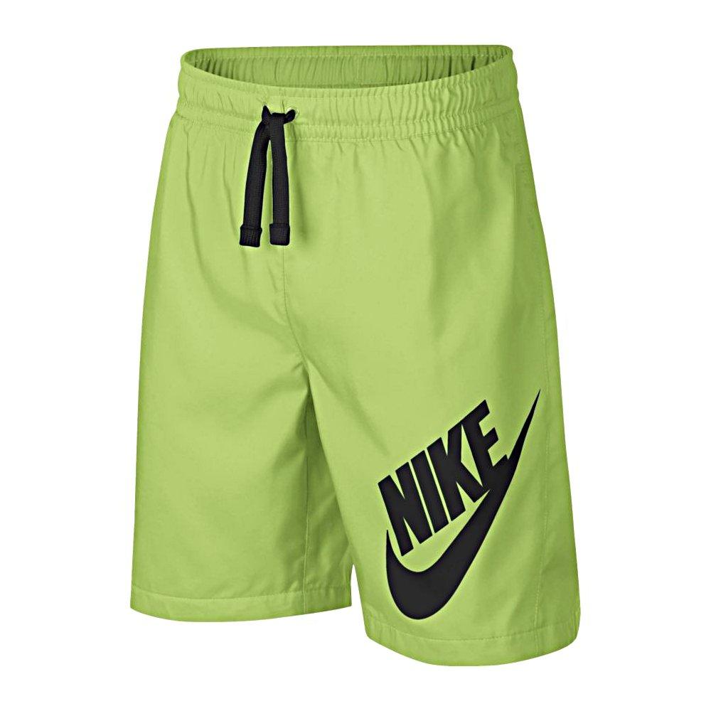 nike sportswear w short zielono-czarne