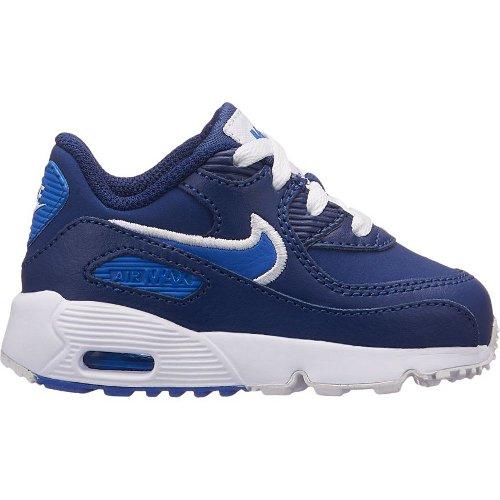 nike air max 90 leather (td) niebiesko-białe