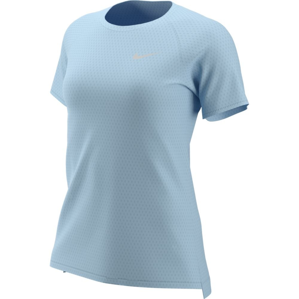 nike tailwind short-sleeve top w blado-błękitny