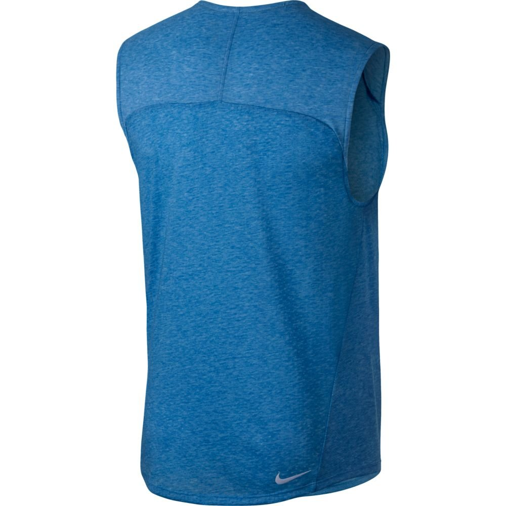 nike rise 365 sleeveless top m błękitna