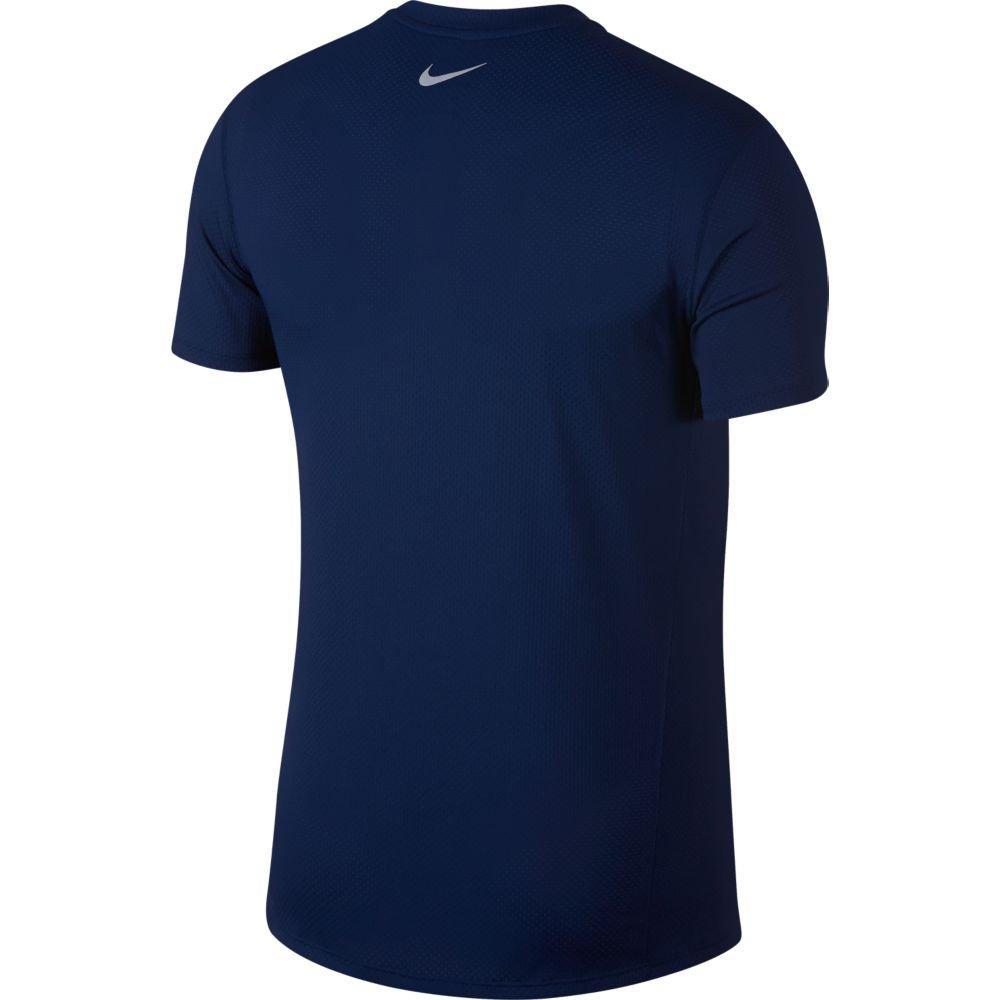 nike dri-fit miler cool short-sleeve top m granatowo-niebieska