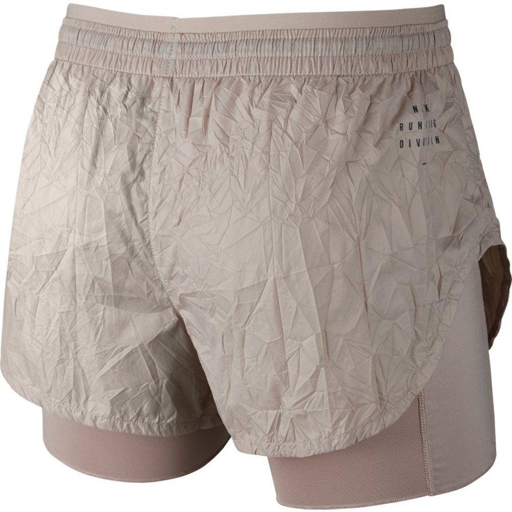 nike elevate 2-in-1 shorts w szaro-beżowe