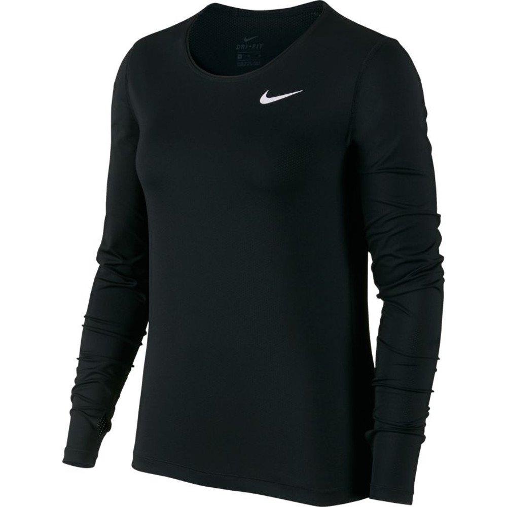 nike pro long sleeve training top w czarna