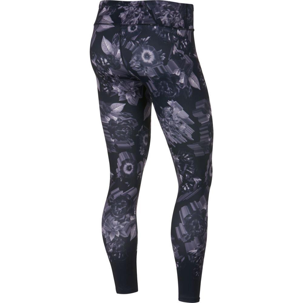 nike epic lux printed tights w czarno-szare