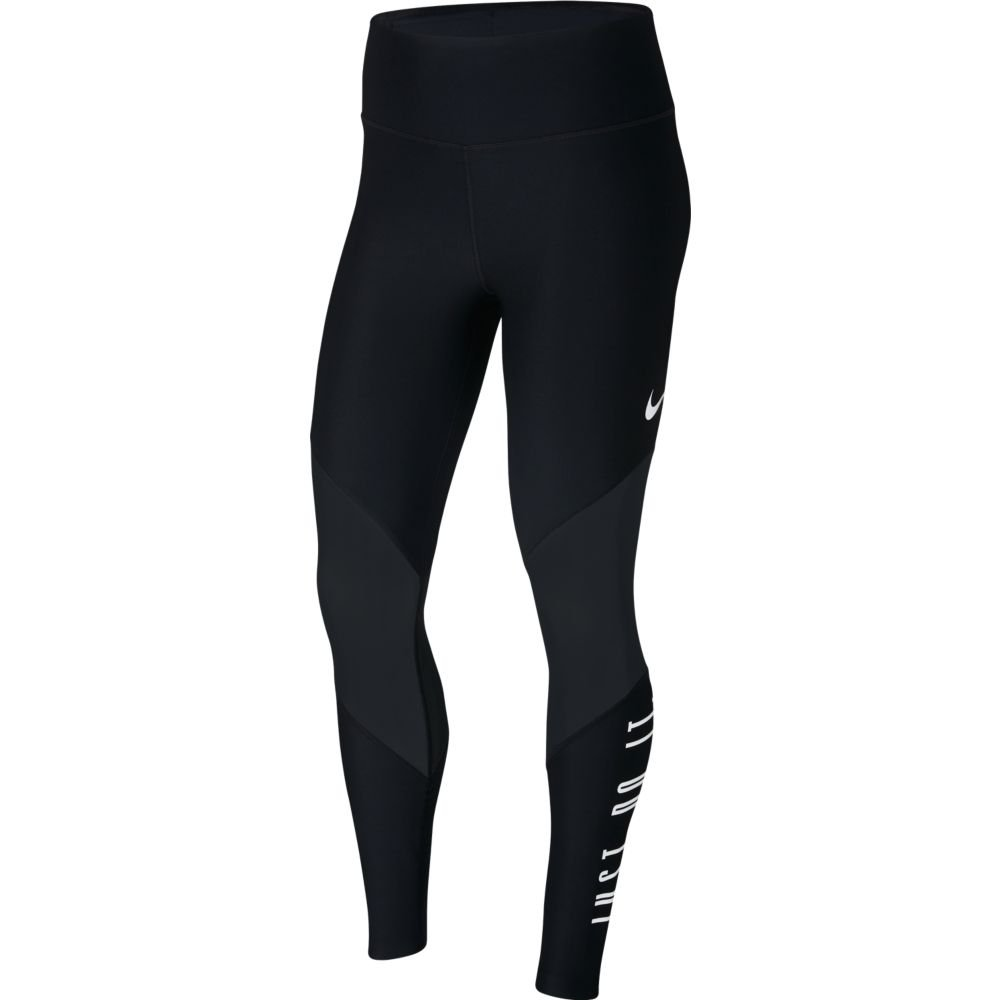 nike power graphic training gym tights w czarne
