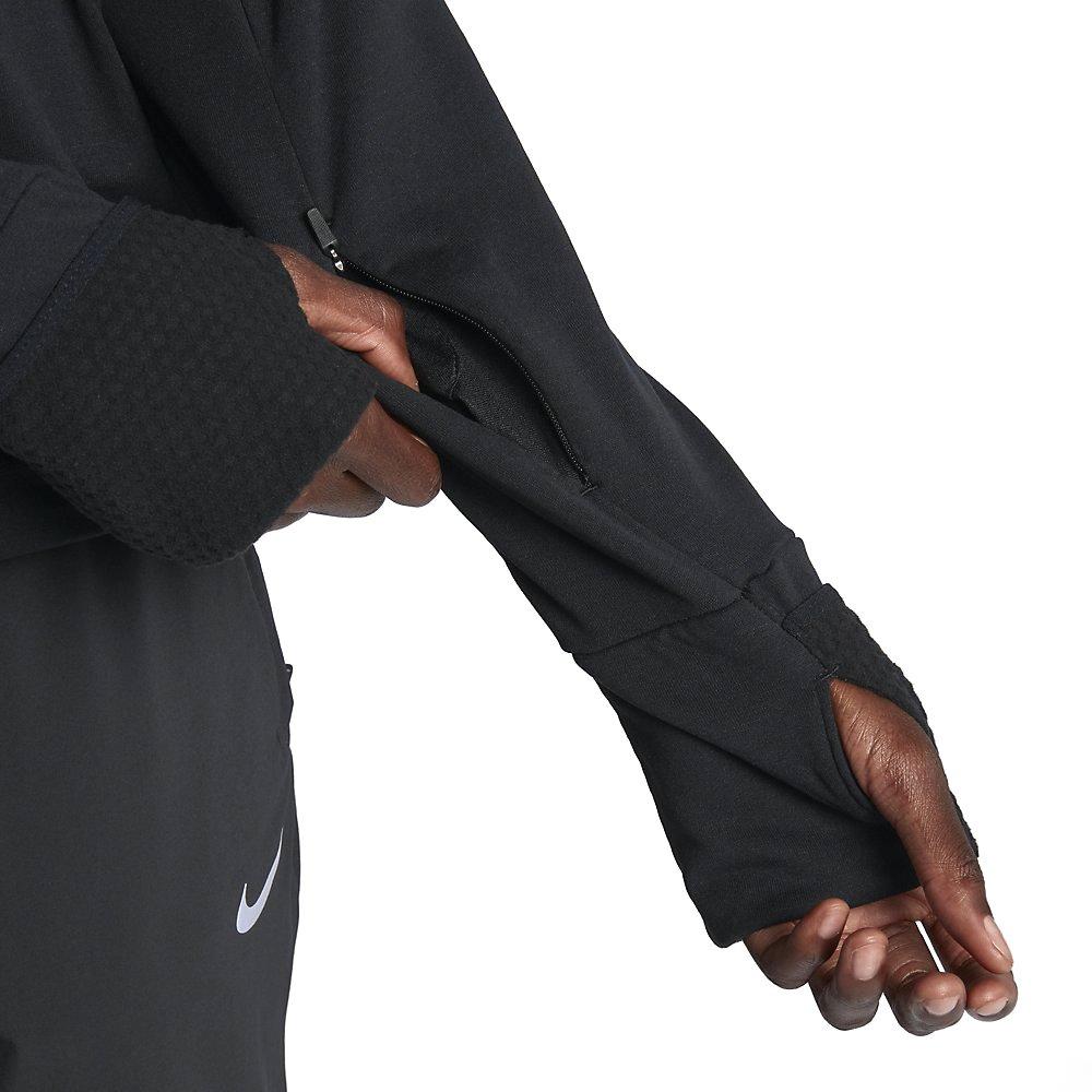 nike therma sphere long sleeve top w czarna