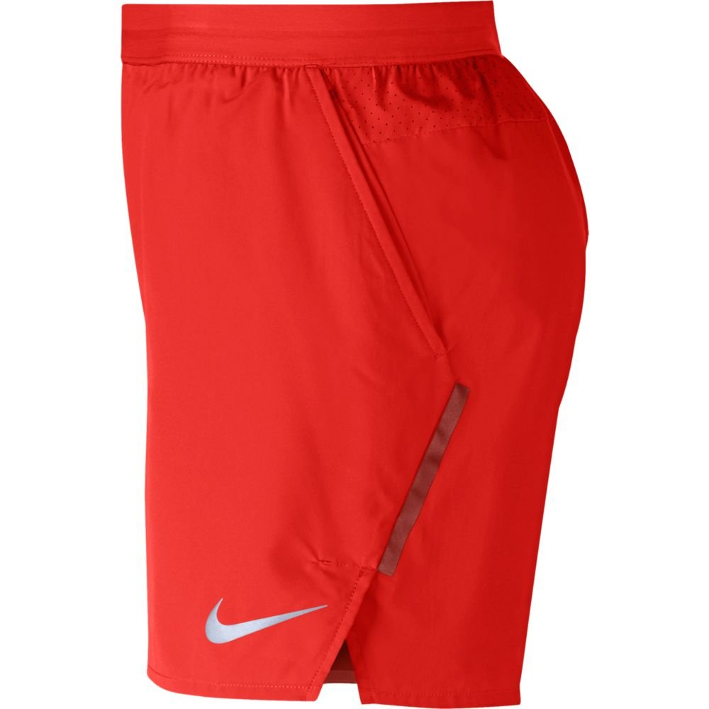 "nike distance 5"" lined shorts m czerwone"