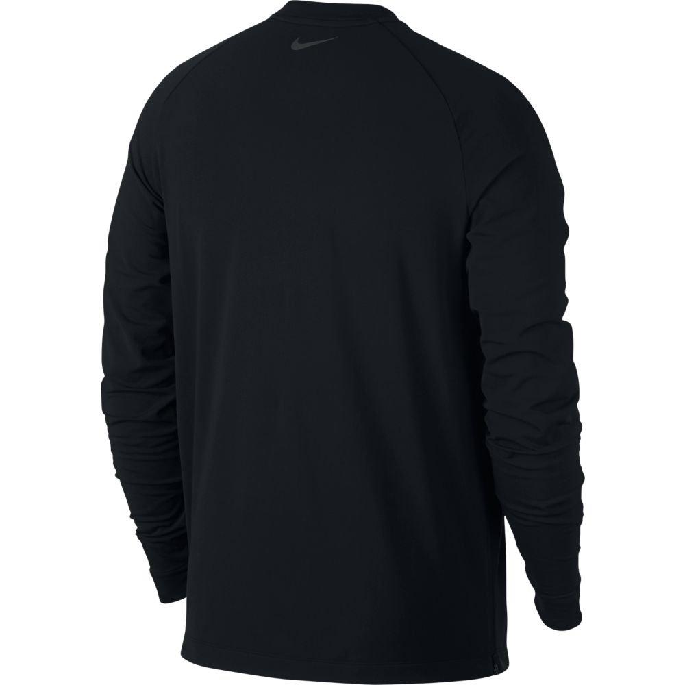 nike thermal mock long sleeve top m czarna