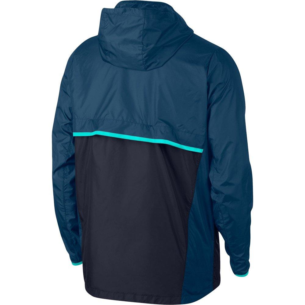 nike shield running jacket m granatowo-niebieska