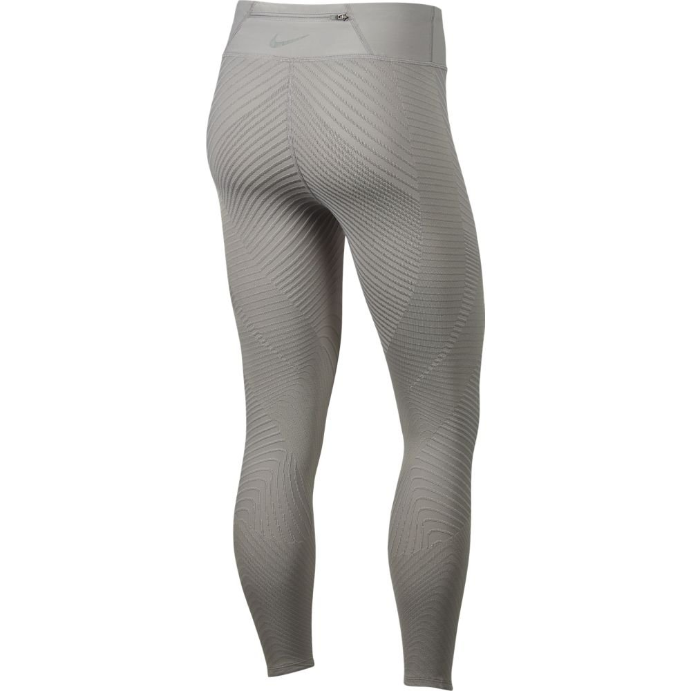 nike epic lux texture mid-rise tights w jasno-szare