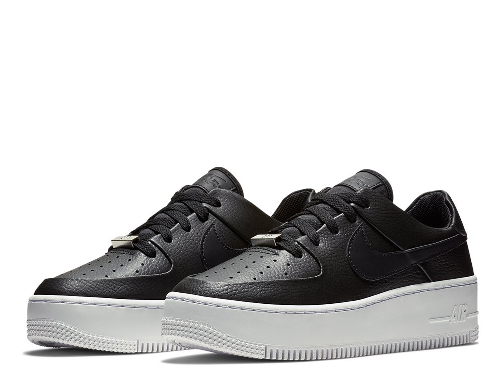 nike wmns air force 1 sage low damskie czarne (ar5339-002)