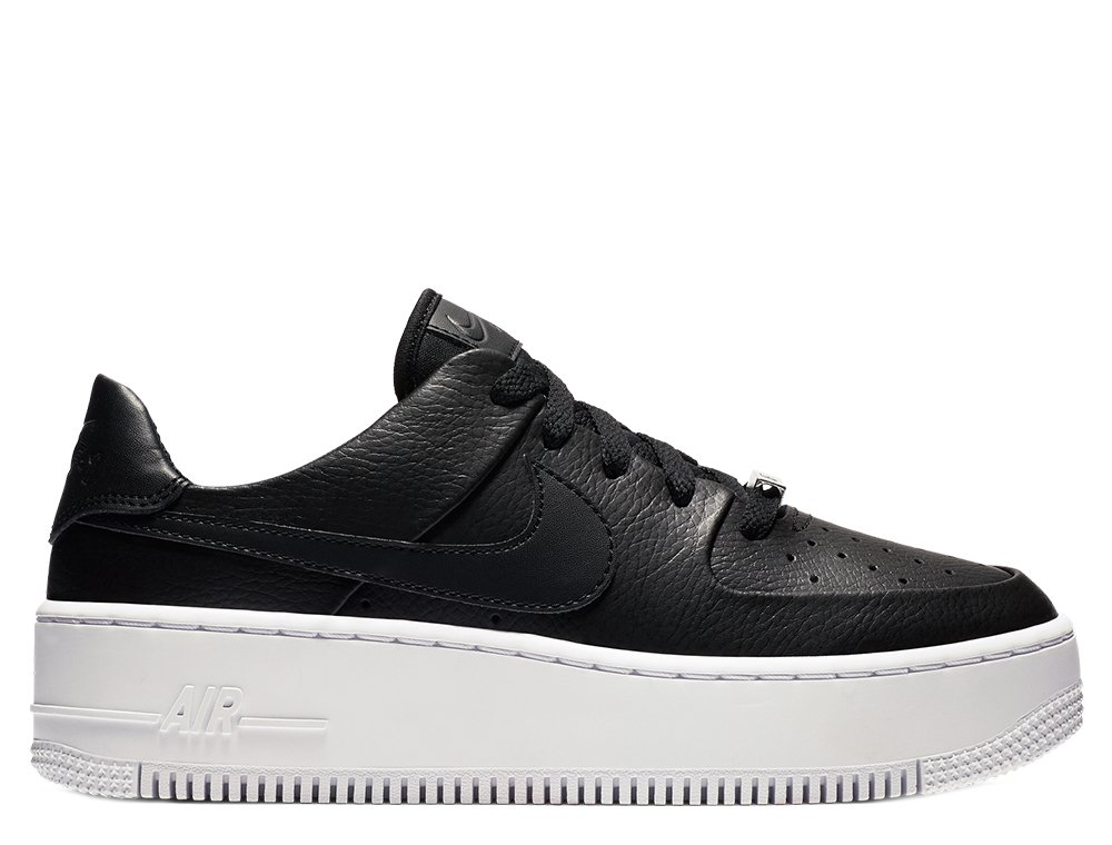 Nike Wmns Air Force 1 Sage Low Damskie Czarne (AR5339 002)