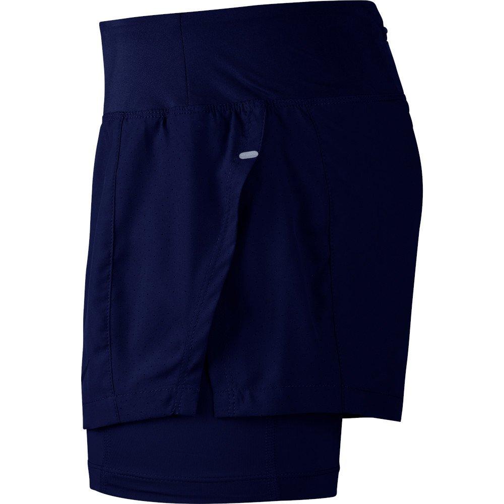 nike eclipse 2-in-1 shorts w niebieskie